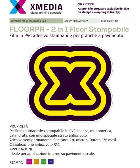 adesivo calpestabile  senza laminazione FLOORPRINT