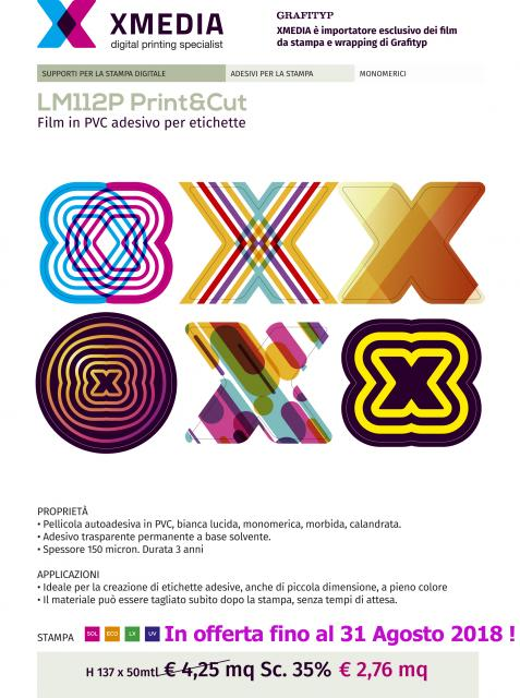 Nuovo vinile speciale per etichette stampa e taglio